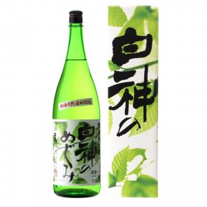 白瀑 特別純米酒 白神のめぐみ 1800ml