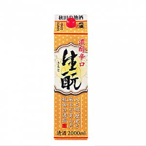 北鹿 濃厚辛口きもとパック(普通酒)2000ml