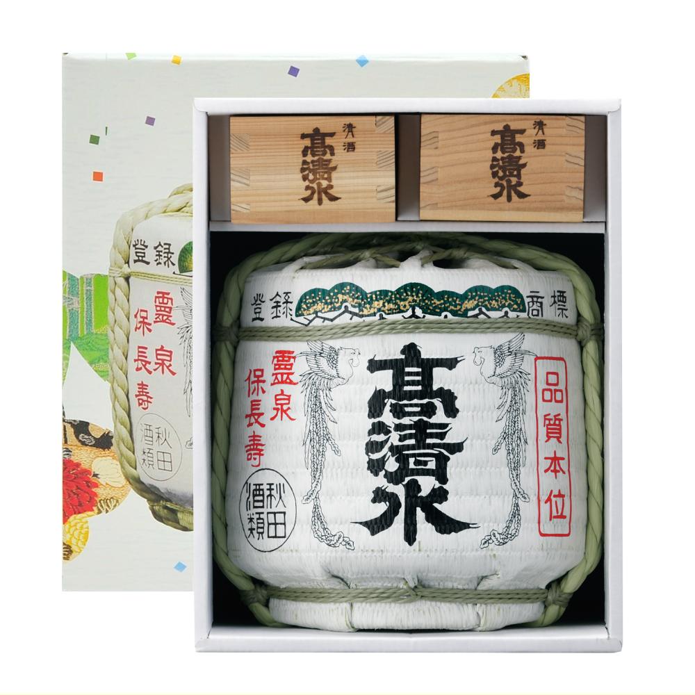 高清水 ミニチュア樽 上撰本醸造 菰樽セット(1800ml)
